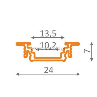 wymiary profilu P2