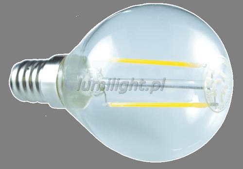ŻARÓWKA LED G45-F/360° E14 4,2W CIEPŁA LL1612