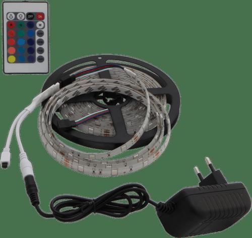 ZESTAW TAŚMA LED + ZASILACZ + STEROWNIK 150×5050 36W IP65 RGB LL2572