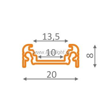profil anodowany P1 wymiary