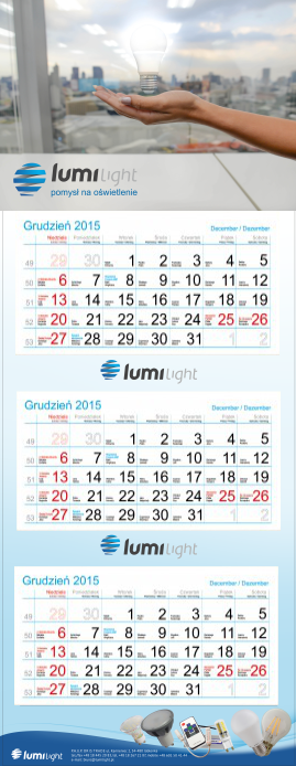 Materiały promocyjne kalendarz oris trade