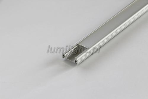 Klosz mleczny do profilu LED, wsuwany